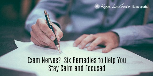 Exam Nerves?  Six Remedies to Help You Stay Calm and Focused
