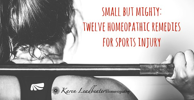 Small but Mighty: Twelve Homeopathic Remedies for Sports Injury