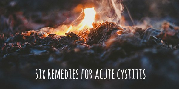 Six Remedies for Acute Cystitis
