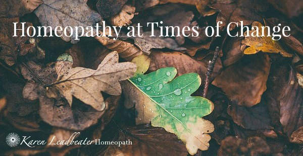 Homeopathy at Times of Change